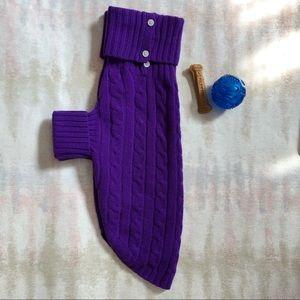 Ralph Lauren Purple Cashmere Dog Sweater